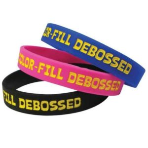 VPGB0003 – Debossed Filled in Color Silicone Wristband