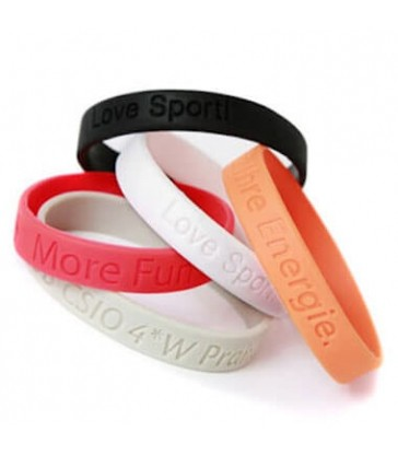 BADGES & WRISTBANDS VPGB0004 – Debossed Silicone Wristband