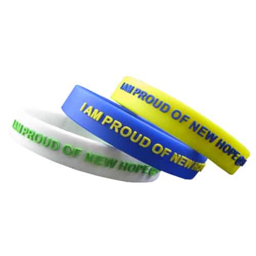 VPGB0005 - Embossed Color Filled Silicone Wristband