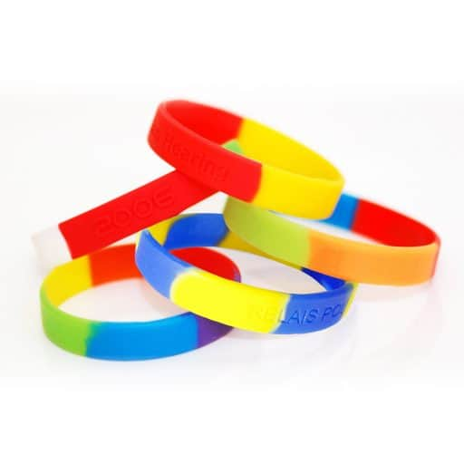 BADGES & WRISTBANDS VPGB0008 – Segmented Colors Silicone Wristband