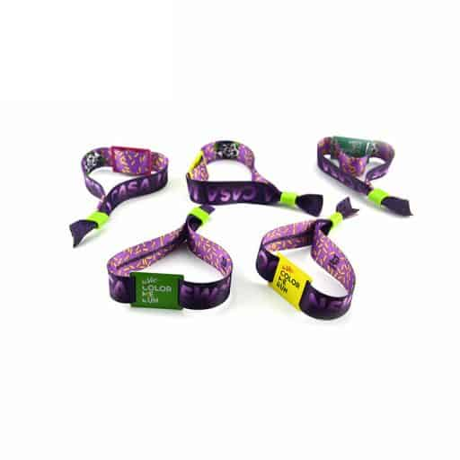BADGES & WRISTBANDS VPGB0010 – Sublimation Fabric Wristband (One-Time-Use)