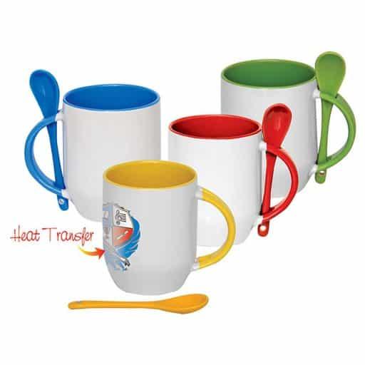 VPGM0010 - Coated Ceramic Mug with Spoon