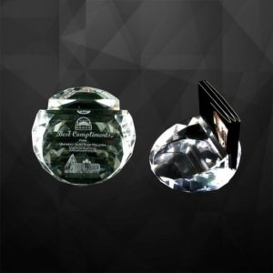 VPGSV012 – Crystal Paper Weight With Namecard Holder