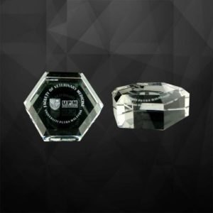 VPGSV014 – Hexagon Crystal Paper Weight