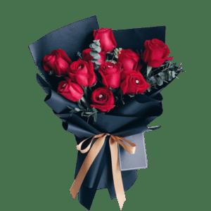 FVL000004 Red Romantic Flower